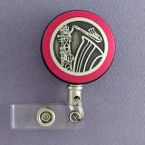 Pink Saxophone Badge Reel