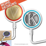 Monogrammed Purse Hangers for Tables with Personalized Letters
