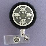 Black Spider Badge Reel