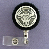 Bull Badge Reel for Rodeo Contestants