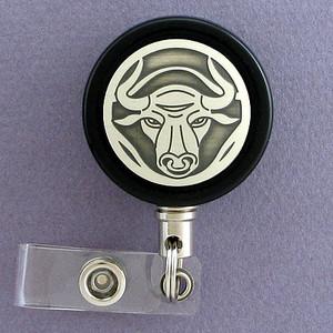 Bull Badge Reel for Rodeo Contestants