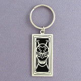 Alternative Knitter Skull Key Chains