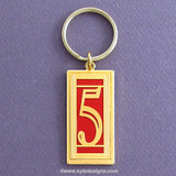 Lucky Number 5 Key Chain