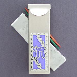 Hebrew letter chai gum holder or toothpick case kyle design - Travel toothpick holder ...