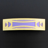 Purple and Gold Modern Milano Hair Barrette