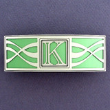 Monogram Letter K Hair Barrette