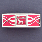Red and Silver Horse Barrette