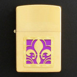 Gold Fleur de Lis Cigarette Lighter