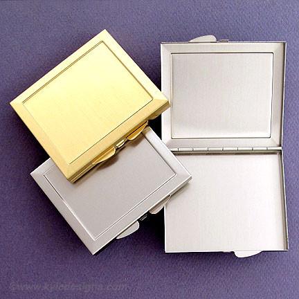 Blank Makeup Mirror pact Case Wholesale Plain Metal