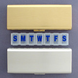 Small Metal 7 Compartment Pill Organizer