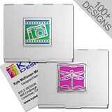 "Stylish 2.75"" Square Business Card Cases"