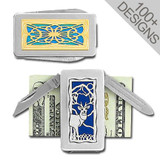 Unique Money Clip Pocket Knife in 100s of Customized Designs