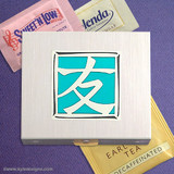 Friendship Character Travel Teabag & Sweetener Packet Cases