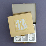 Gray Ribbon Large Pill Boxes for MS and Dementia Awareness