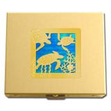 Gold Sea Turtle Pill Box