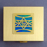 Jewish Star of David Large Pill Box