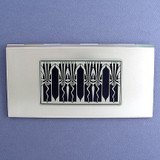 Retro Art Deco Metal Check Cover