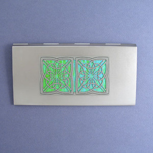 Celtic Metal Check Book Cover