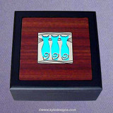 Triple Cats Small Decorative Wooden Box