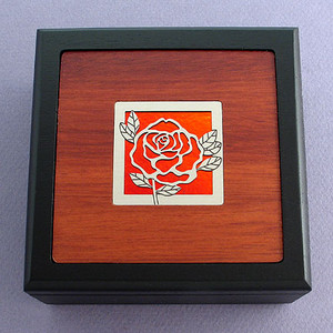 Rose Small Decorative Wood Box