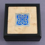 Celtic Small Decorative Glass & Wood Box