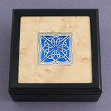 Celtic Small Decorative Glass & Wood Box