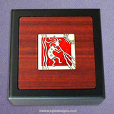 Kokopelli Small Decorative Wooden Box