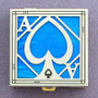 Ace of Spades Pill Box - Tropical Blue