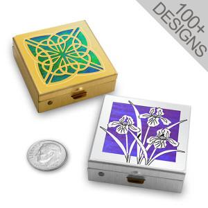 """Small 1.5"""" Decorative Pill Boxes"""