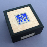 Flames Small Decorative Wooden Box