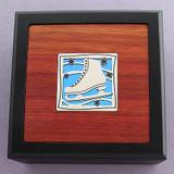 Figure Skates Small Decorative Wooden Boxes