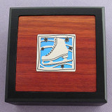Figure Skates Small Decorative Wooden Boxes
