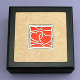 Hearts Entwined Small Decorative Wood Boxes