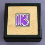 Number 13 Small Decorative Wooden Box
