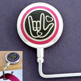 Pink ASL I Love You Sign Language Purse Hook