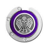 Purple Guardian Angel Folding Purse Hook