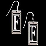 Monogram Letter F Earrings