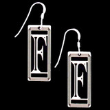 Monogram Letter F Earrings