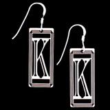 Monogram Letter K Earrings