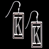 Monogram Letter K Earrings
