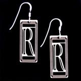 Monogram Letter R Earrings