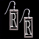 Monogram Letter R Earrings