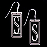 Monogram Letter S Earrings