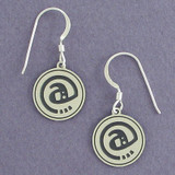 At Sign Earrings