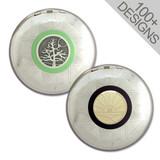 Decorative round trinket boxes in unique designs.