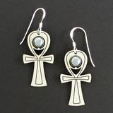 Ankh Beaded Earrings
