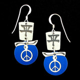 Double Peace Earrings