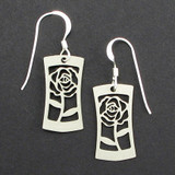 Rose Bloom Flared Earrings