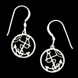 Anchor Round Earrings