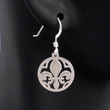 Fleur de Lis Lily Round Earrings